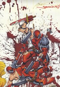 Deadpool Print SIGNED by creators Rob Liefeld and Fabian Nicieza