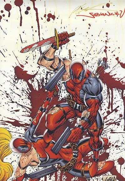 Deadpool Print SIGNED By Creators Rob Liefeld And Fabian Nicieza