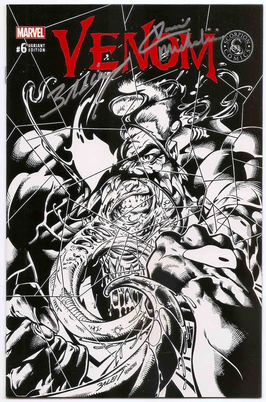 Venom (vol  3) # 06 Sketch Variant SIGNED Mark Bagley & David Michelinie