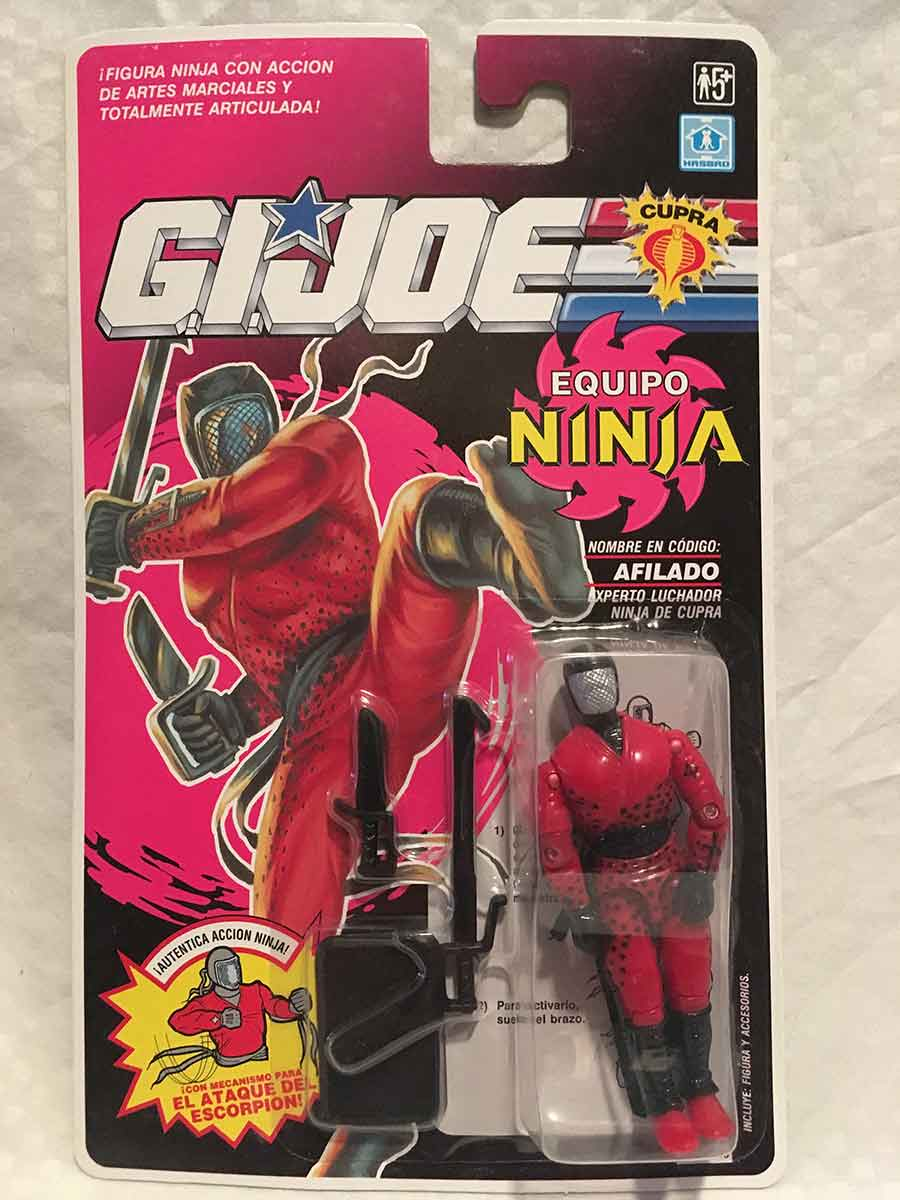 G I  Joe A Real American Hero Ninja Force Slice MOC Mint On Card