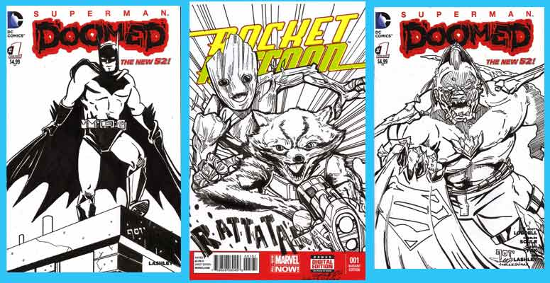 Original Comic Book Cover Art : Original art sketch covers brooklyn comic shop