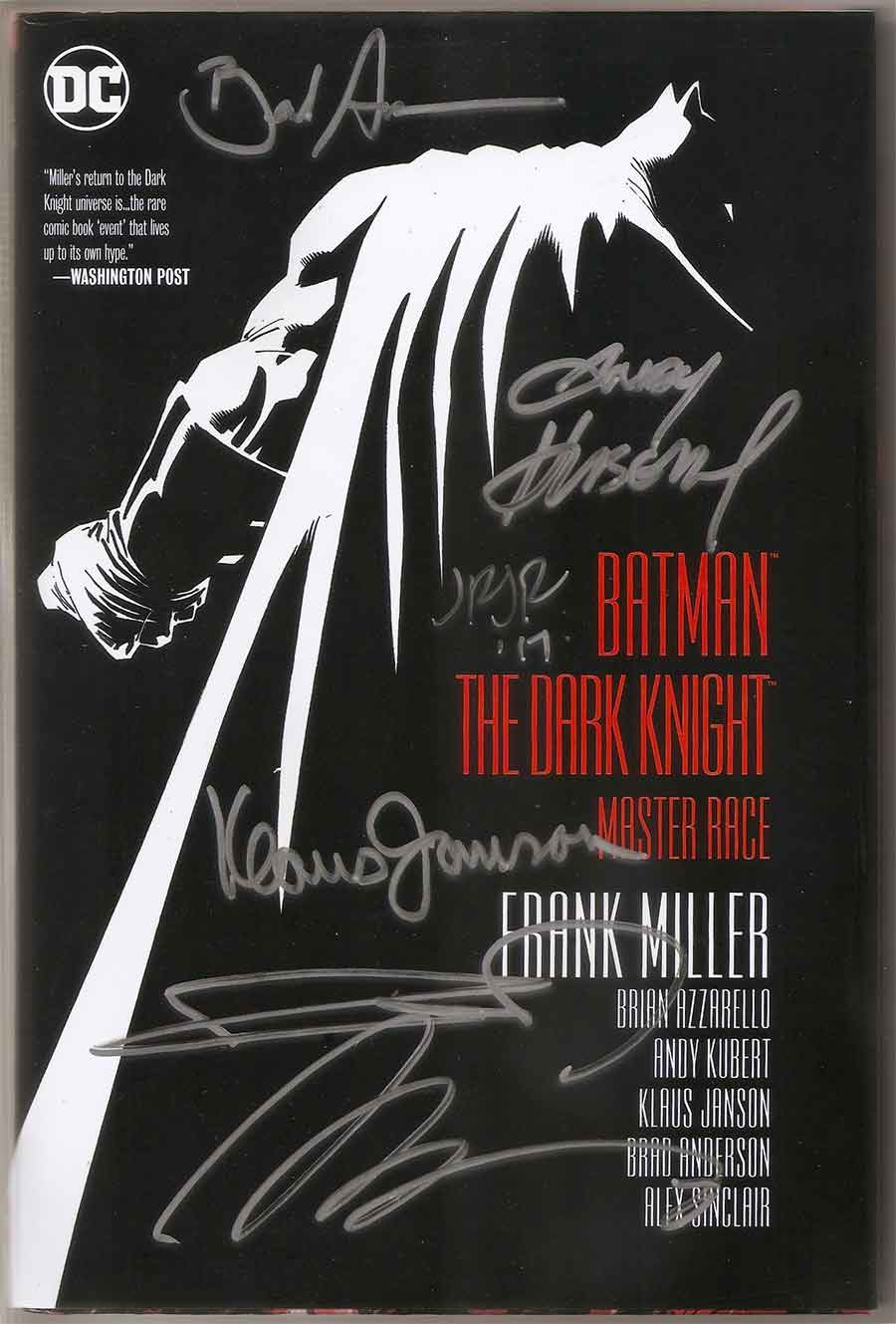 batman the dark knight returns the master race signed