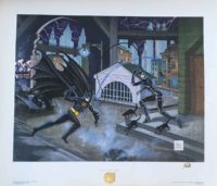 Bob-Kane-SIGNED-Batman-Catwoman-Dangerous-Game-Lithograph-Brooklyn-Comic-Shop