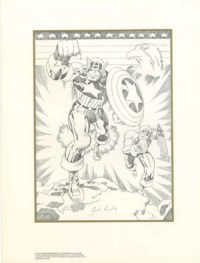 Captain-America-Jack-Kirby-Signed-Print-Brooklyn-Comic-Shop