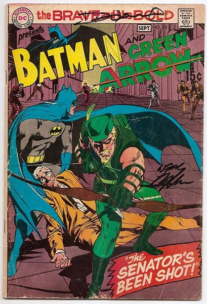 BATMAN REBIRTH #1 Cover PRINT HAND SIGNED Neal Adams w COA