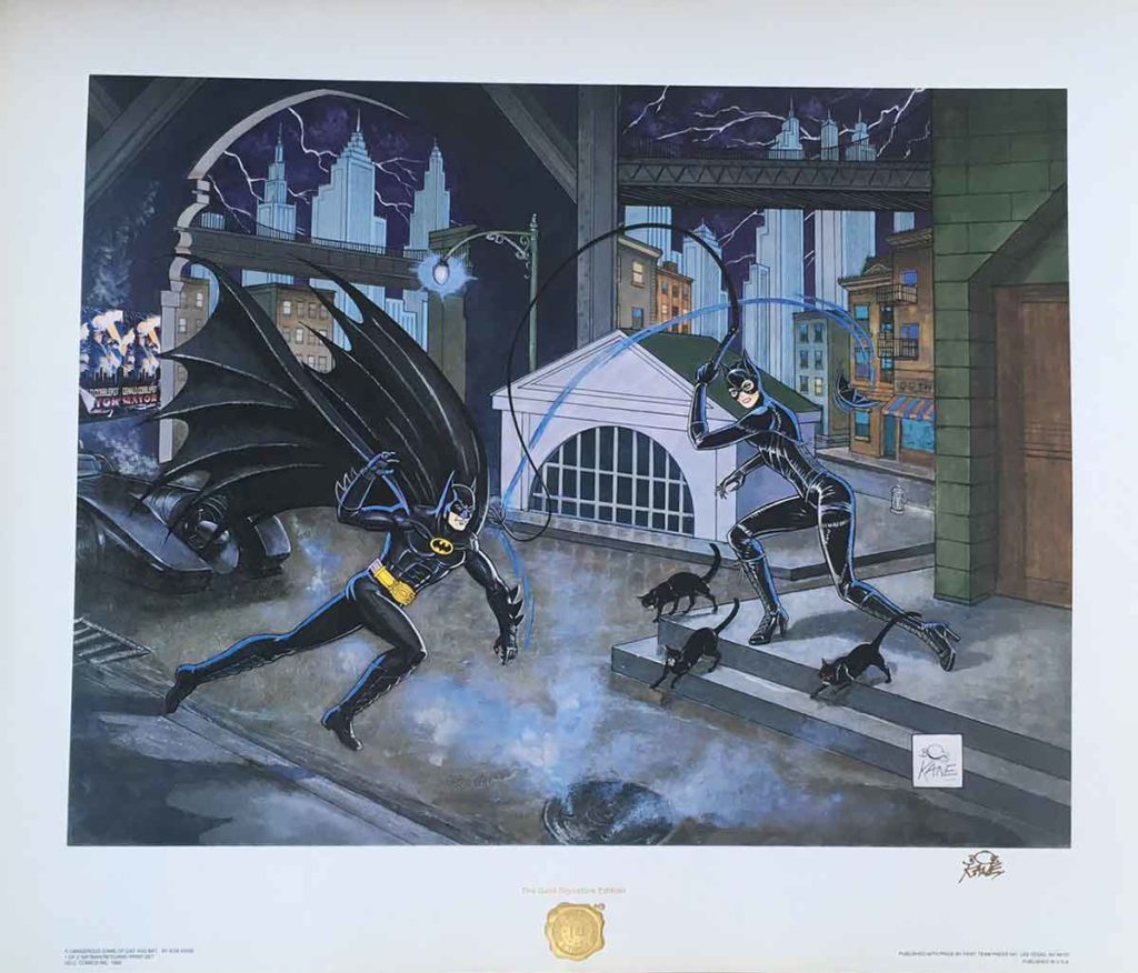 Catwoman and Batman Limited Edition Convention Poster Art Print