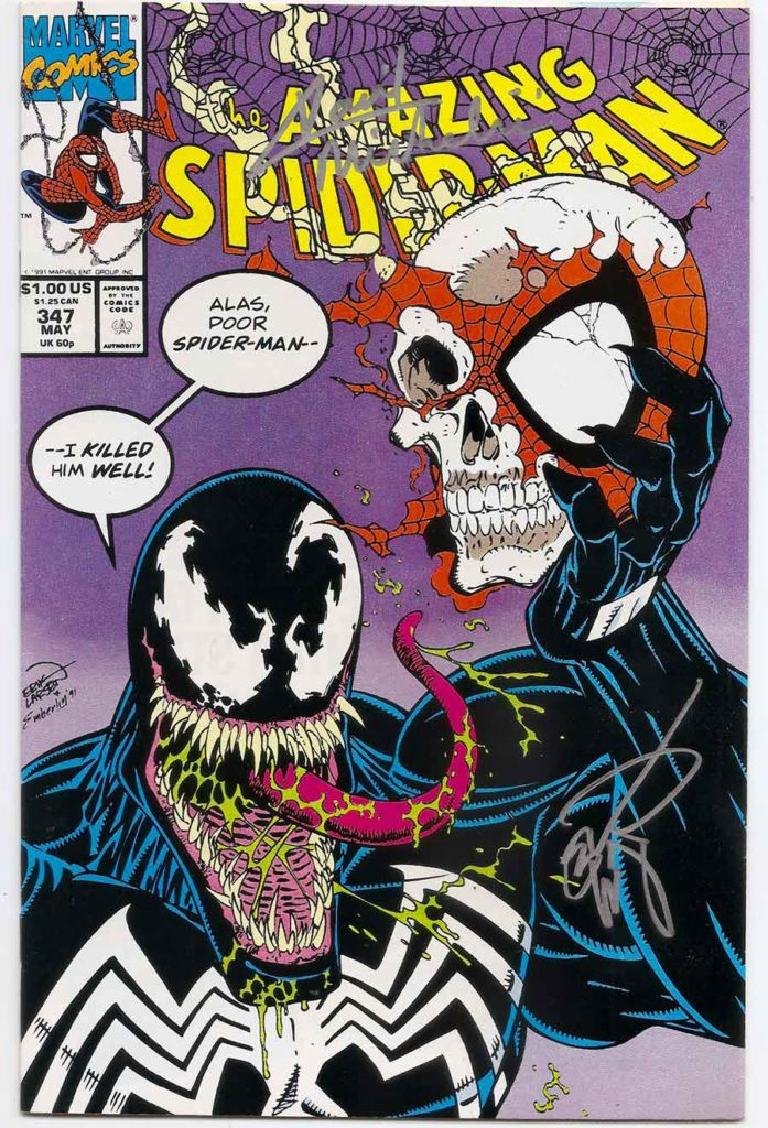 Portadas de cómics Amazing-Spider-Man-347-SIGNED-Brooklyn-Comic-Shop-697x1024