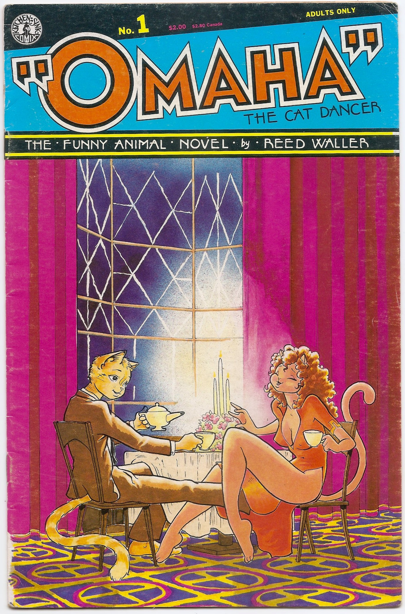 Funny Adult Comics omaha the cat dancer # 1 (adult only)