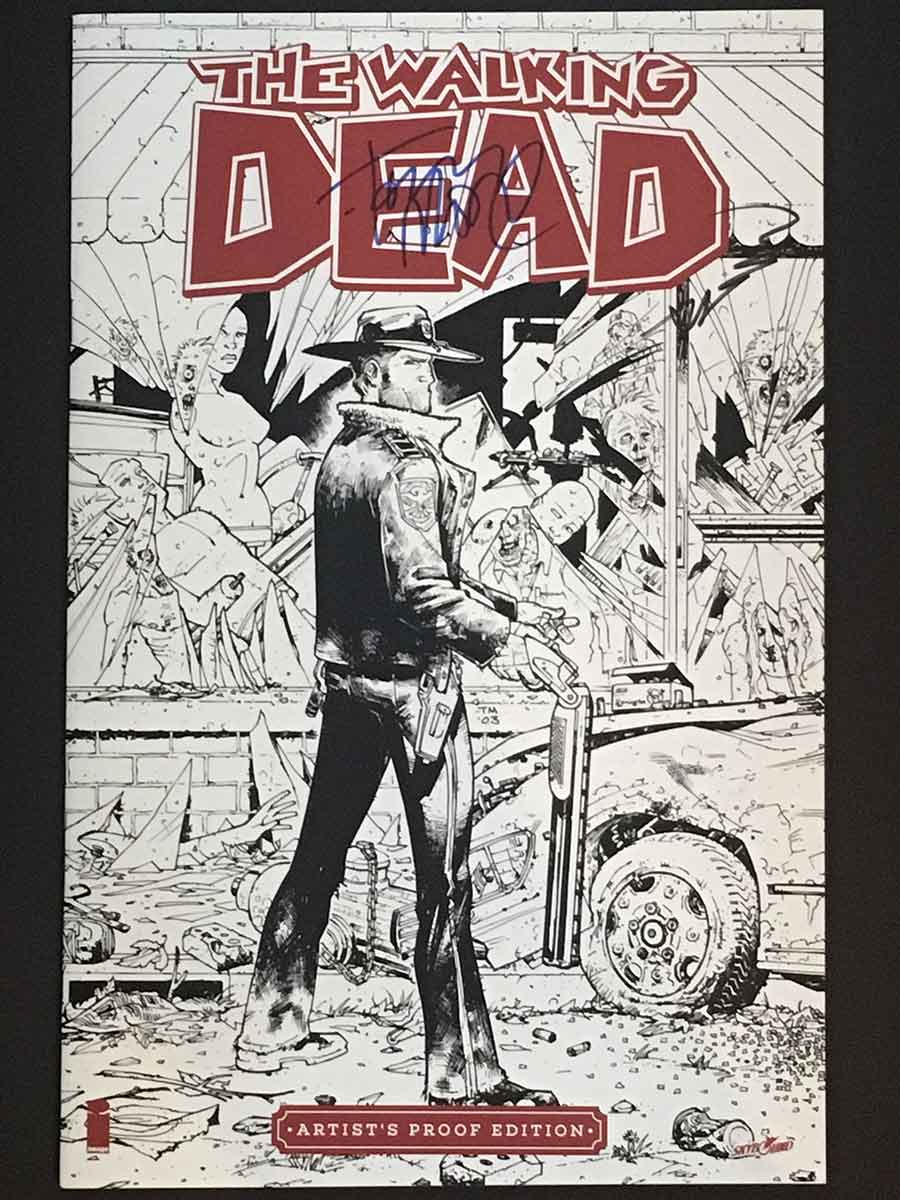 Walking Dead # 1 Artist Proof Edition SIGNED Robert Kirkman & Tony ...