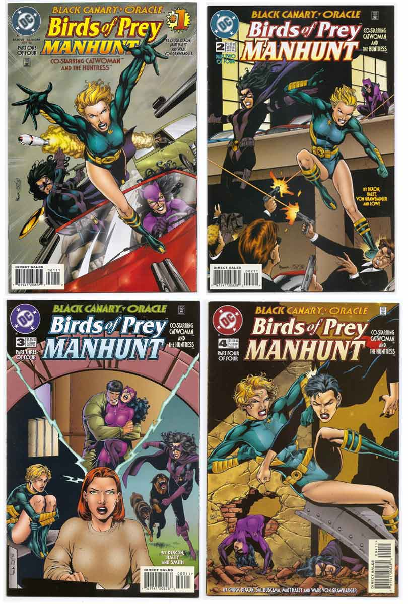 Birds Of Prey Manhunt 1 4 Comic Set Brooklyn Comic Shop